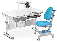 Комплект Evo-kids Evo-40 G Grey (арт. Evo-40 G + кресло Y-110 KBL) /(стол+ящик+полка+кресло)/ белая столешница