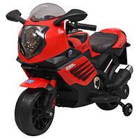 Детский электромотоцикл, красный, Bambi (M 3578EL-3)