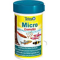 Tetra Micro Granules корм в гранулах для декоративных рыб небольшого размера 100мл