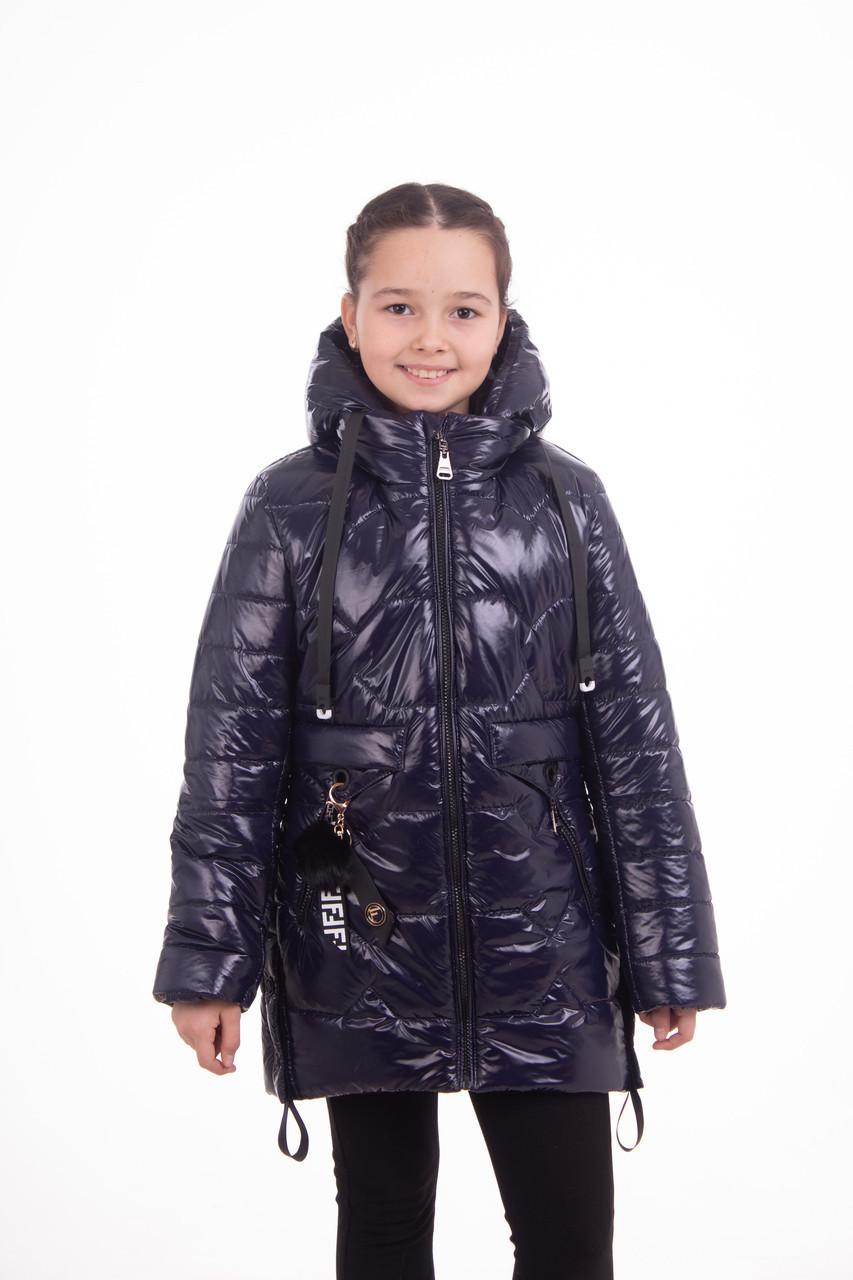 Пальто для девочек от производителя  32-42  Синий