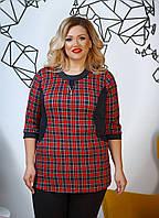 Женская трикотажная батальная туника(3расцв) от56-до62разм., фото 1