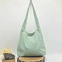 Річна текстильна сумка. Світло-зелена