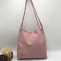 Річна текстильна сумка. Світло-рожева