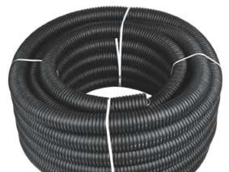 Металлорукав д22 изолированный чёрный с протяжкой (10м) 220тм