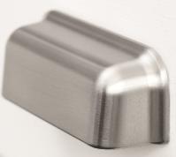 Ручка-ракушка PORT FURNIPART м/о 96мм, серый античный