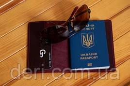 Обложка для паспорта, бордовая