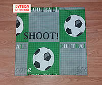 Наволочка бязь 70х70 - Футбол зелений