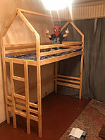 Детская кровать-чердак из натурального дерева от производителя- 4500 грн