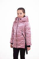 Детская куртка для девочек весенние   36-44 Розовый