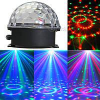 Светодиодный дискошар c MP3 плеером LED Ball Light + пульт + флешка