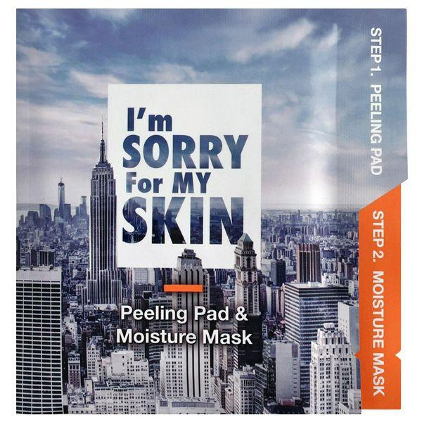 Набор пилинг-диск  и увлажняющая МаскаI'm Sorry For My Skin Peeling Pad & Moisture Mask