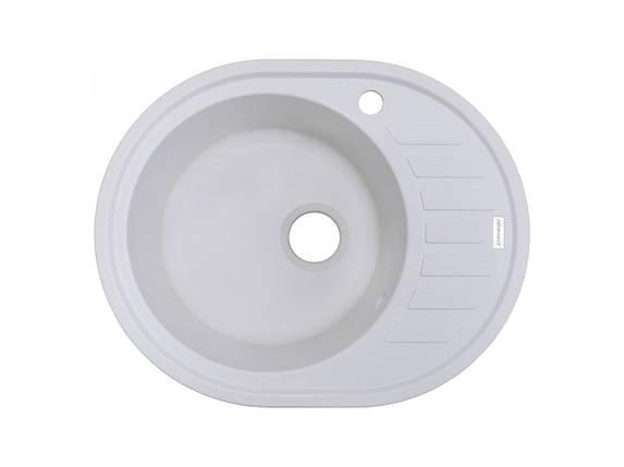 Кухонная мойка гранитная белая 62*50 см ADAMANT OVUM (белый), фото 2