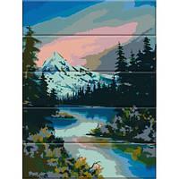 Картина по номерам на дереве Горная река ASW041 30x40 см., Art Story