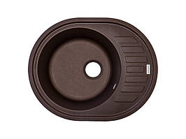 Мийка для кухні коричнева граніт 62*50 см ADAMANT OVUM (коричневий)