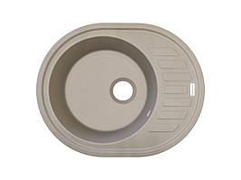 Кухонна мийка пісочного кольору граніт 62*50 см ADAMANT OVUM (цукру)