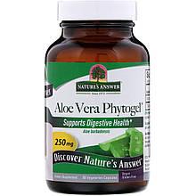 "Алоэ вера Nature's Answer ""Aloe Vera Phytogel"" фитогель, 250 мг (90 капсул)"