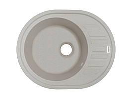 Кухонна мийка овальна врізний граніт 62*50 см ADAMANT OVUM (авена)