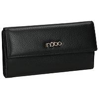 Женский кошелек кожаный Nobo LI0010-C020 черный, фото 1