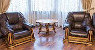 Кресло Гризли (кожа) Курьер, фото 1