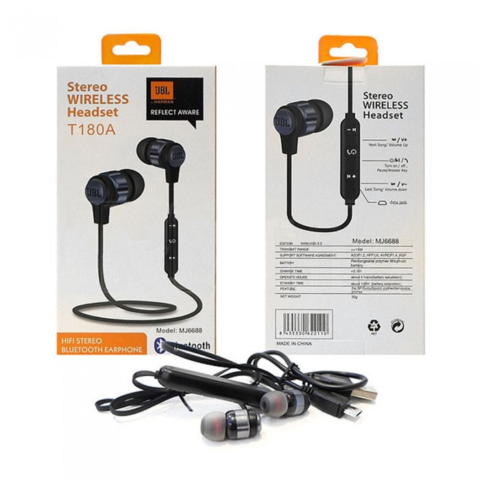 Беспроводные вакуумные Наушники UBL-T180A Bluetooth Черные