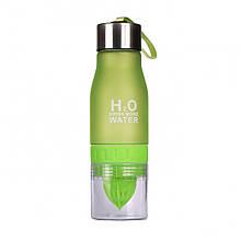 Бутылка для воды и напитков H2O Water Bottle с соковыжималкой Зеленый
