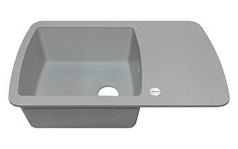 Мойка гранитная серая для кухни 78*50*20 см ADAMANT OPTIMAKS (светлый серый), фото 2
