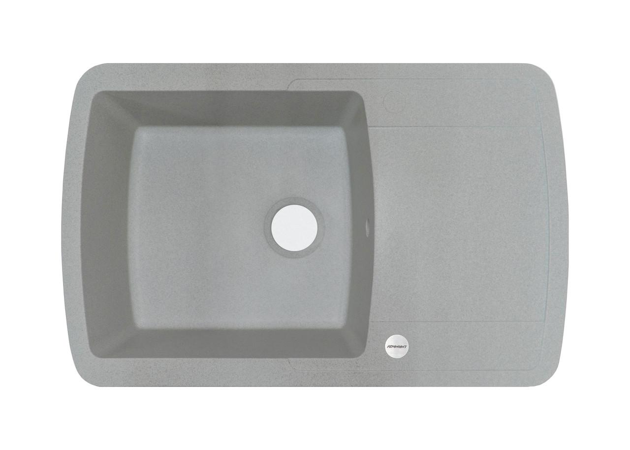 Мойка гранитная серая для кухни 78*50*20 см ADAMANT OPTIMAKS (светлый серый)