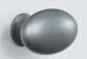 Ручка-кнопка OVAL SIMPLE 60х35х38мм, серый античный