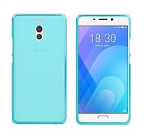 Силиконовый чехол для Meizu M6 голубой
