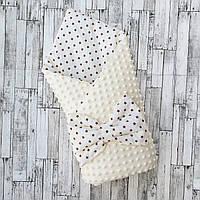 "Конверт-одеяло на выписку ""Минки"", конверт на выписку со съемным синтепоном"