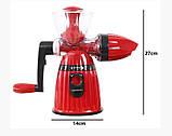 Соковыжималка ручная Maileyi Hand Juicer Ice Cream Красная, фото 2