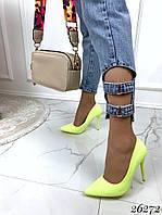 Туфли  женские лодочки   желтые    каблук 10,5, фото 1