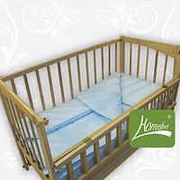 Комплект постельного белья в дет. кроватку, ранфос-голубой, в сумке 39*39см, ТМ Homefort(2050004)