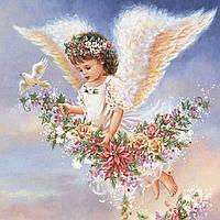 """Алмазная мозаика """"Ангелочек"""", картина стразами 30*30см"""