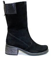 Сапоги женские зимние замшевые на каблуке большого размера от производителя модель МИ5312Z-1