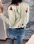 Женская куртка-косуха из эко-кожи с вышивкой, фото 7