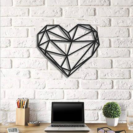 Картина з дерева Decart Heart 46х40 см, фото 2
