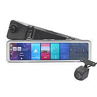 "Зеркало-видеорегистратор 12"" Lesko Car D60 съемка FullHD 1080p карта памяти 32Gb угол обзора 170° GPS"