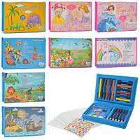 Набор для творчества, карандаши, фломастеры, мелки, акв.краски, в пенале 17*11,5*2,5см (72шт)(MK2115)