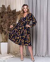 Платье женское нарядное большие размеры Г05151 синий, фото 1