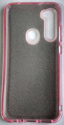 Силіконовий чохол для Xiaomi Redmi Note 8 з блискітками (розовий), фото 2