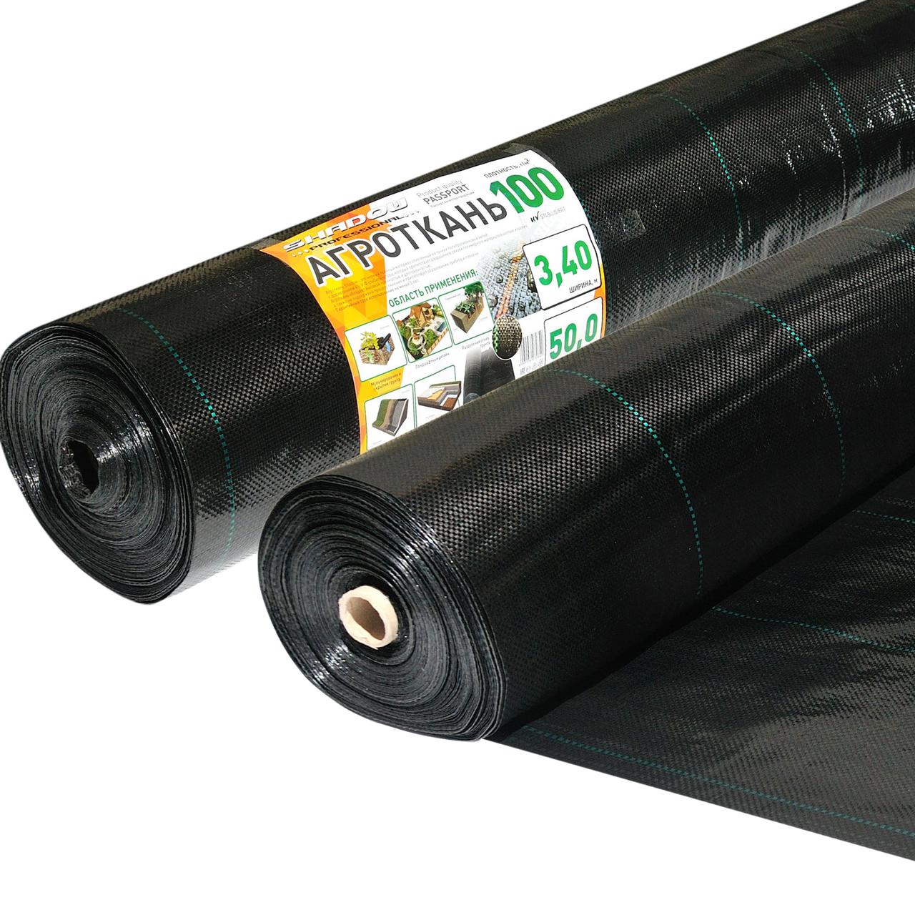 Агроткань 100 г/м² черная  3.4 х 50 метров