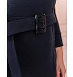 Приталенное женское платье батал синее, фото 3