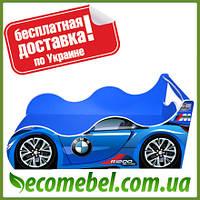 Кровать машина (ліжко дитяче) БМВ  Драйв синяя