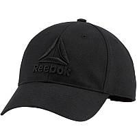 Кепка Reebok Active Enhanced Baseball DU7176 (черная, хлопок, холщовая ткань, с регулятором, логотип рибок)