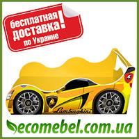 Кровать машина (ліжко дитяче) Ламборджини Драйв желтая