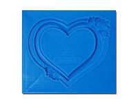 Молд от АртПросвет - Рамка в форме сердца с розами, 70x60 мм