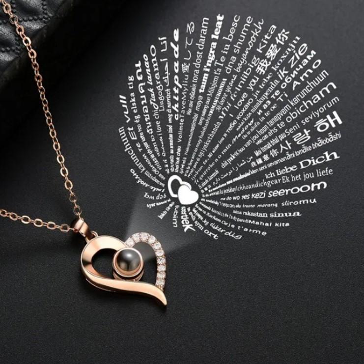 """Кулон """"Я тебе люблю"""" з проекцією на 100 мовах світу"""