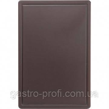 Доска разделочная 600x400x(H)18 мм коричневая Stalgast 341636