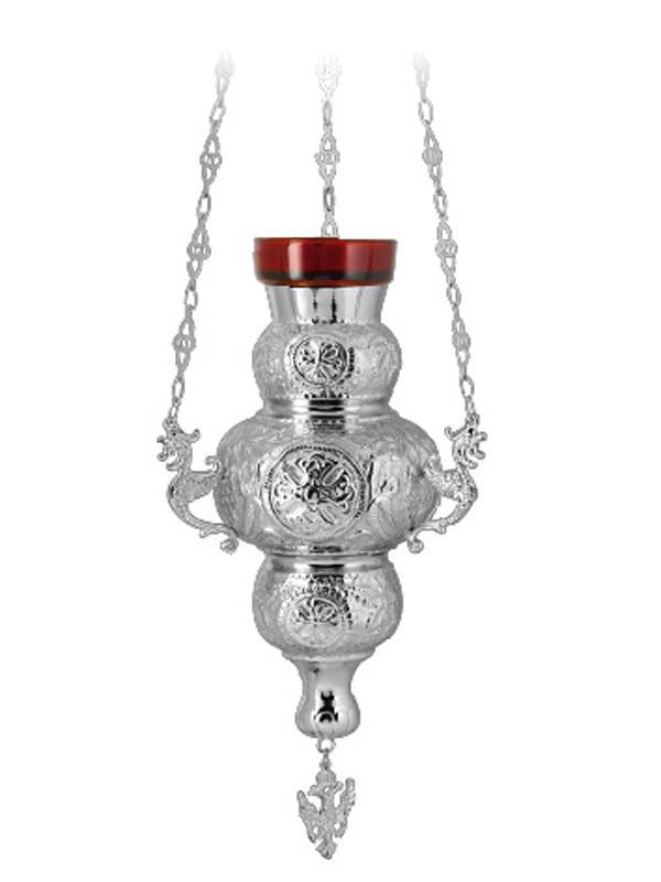 Лампада подвесная, серебрение, Греция